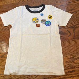 JCrew Crewcuts Emoji White T Shirt brand new!